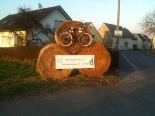 Ortseingang Lisberg, Jubiläum RSV Bavaria